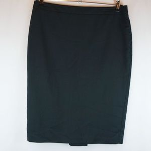 CAbi Pencil Skirt Bossy Style #430 Pleated Vent